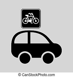 bicycle route sign graphic