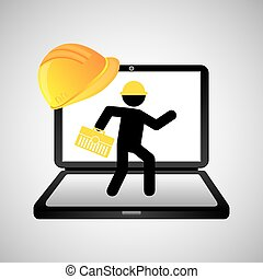under construction web page worker tool box