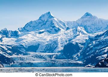 Glaciär, medborgare, Parkera,  alaska, vik