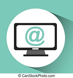 computer device mail network icon vector illustration eps 10