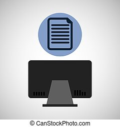 computer device document network icon vector illustration...