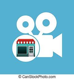online market buying movie graphic