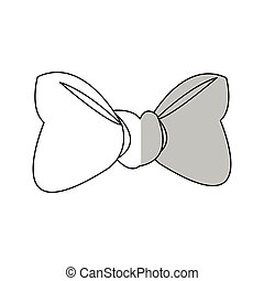 Isolated bowtie design - Bowtie icon. Female ribbon and...