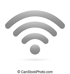gray wifi icon wireless symbol on isolated background