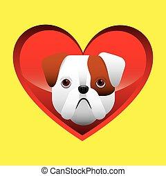 bulldog face icon design