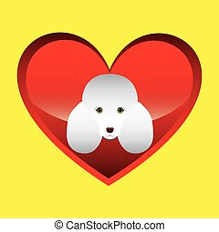 poodle dog face design icon