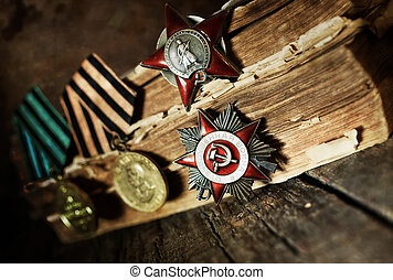 aged effect medals world war great composition - Awards of...