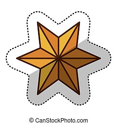 Isolated star of nativity design - Star icon. Nativity merry...