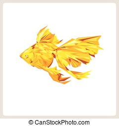 Goldfish, Abstract polygon vector