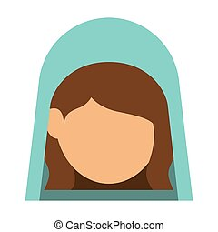 Isolated holy mary design - Holy mary icon. Nativity merry...