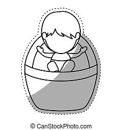 Isolated baby jesus design - Baby jesus con. Nativity merry...