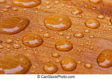 water beads on treated cedar deck - water beads on the cedar...
