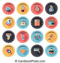 Financial and business icons set