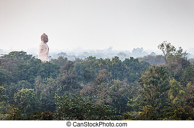The lord Buddha dominates over the city of Sarnath - The...
