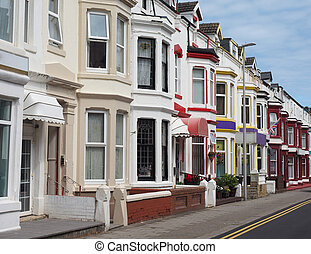 Traditional English terraced house - A row of traditional...