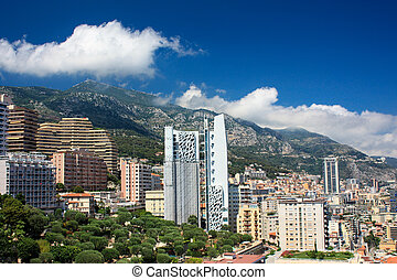 Panoramic view of Cannes, Monte-Carlo