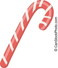 Candy Cane vector icon. Isolated on white background.