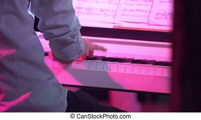 Piano music pianist hands playing 4K - Piano music pianist...