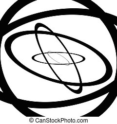 Squiggle, squiggly circles, ovals, lines. Spiral made of...