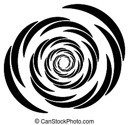 Circular element with random radiating lines. Radial circles...