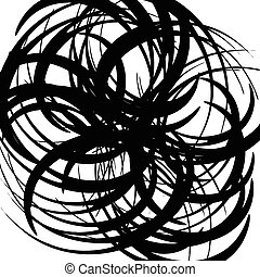 Chaotic random curved lines. Abstract artistic pattern,...