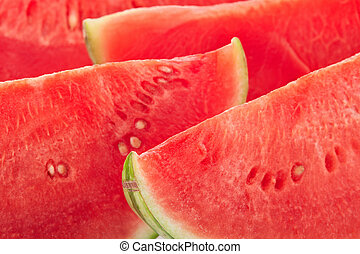 Watermelon fruit slices background - Watermelon red fruit...