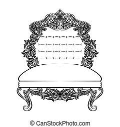Tekeningen van barok stoel baroque stoel gekleurde doodle hand csp14619434 zoek - Stoel dineren baroque ...