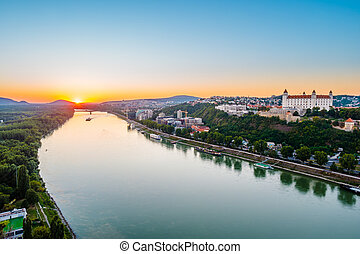Bratislava castle in capital city of Slovak republic....