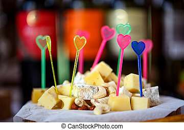 buffet, wedding decorations, cheese and nuts - smorgasbord,...