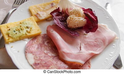 Typical Italian Starters Plate - Plate with typical italian...