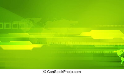 Bright green tech abstract animated background