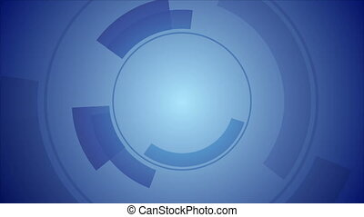 Abstract blue technology video animation - Abstract blue...