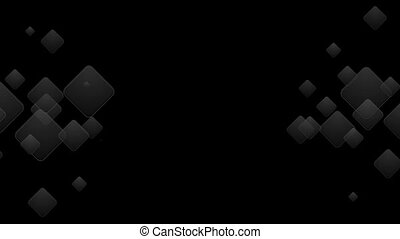 Abstract black squares geometric shape animation. Motion...
