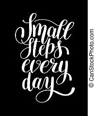 small steps every day handwritten positive inspirational...
