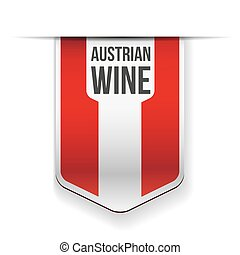 Austrian Wine flag ribbon