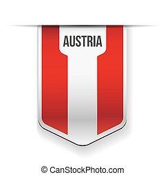 Austria flag ribbon