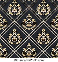 Victorian regal pattern seamless baroque - Background...