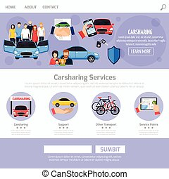 Carsharing Service Web Template Layout