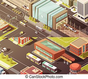 Government Buildings Isometric Banners Set - Government...