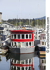 Vancouver Boat House - The boat as a house in Vancouver city...