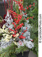 Christmas floral arrangement.