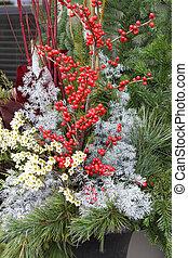 Christmas floral arrangement.