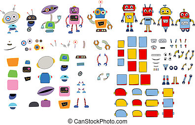 Different type of robots and parts - Different type of...