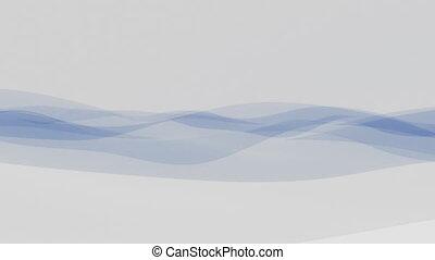 Elegant blue fabric or transparent film motion background 4K...