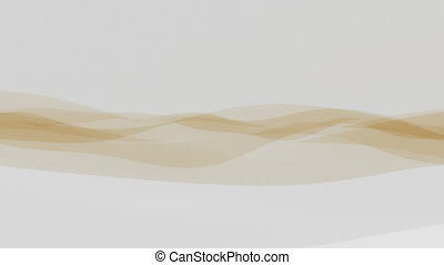 Fine yellow fabric or transparent film motion background...