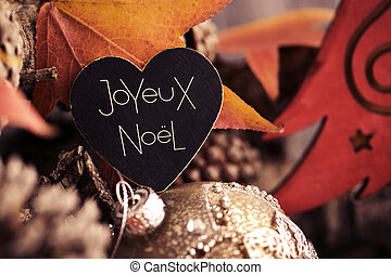 text joyeux noel, merry christmas in french - the text...