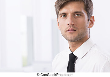 Young tired IT employee in shirt - Elegant young tired IT...