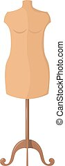 Vector illustration of abstract mannequin for clothing on a white background. Isolated object.