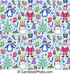 seamless christmas pattern - Illustration of colorful...