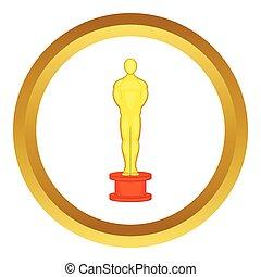 Cinema gold award vector icon